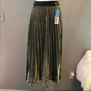 NWT Metallic Gold Maxi Skirt